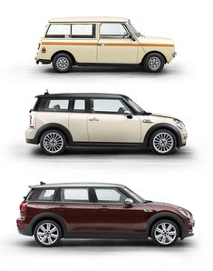 MINI Clubman - Design Evolution - Too bad they turned it into another boring 4 door bus Mini Cooper Clubman, Mini Cooper S, Cooper Cars, Minivan, Classic Mini, Classic Cars, Car Best, Evolution, Car Side View