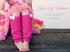 Girly leg warmers free crochet pattern, and a matching doll leg warmer pattern too!