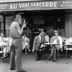 Jean Luc Godard and Jean Seberg on the set of A bout de Souffle, Paris 1959