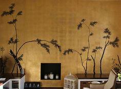 Hand Painted Wallpaper of Japanese and Koream, Hand Painted Wallpaper London, Hand Painted Wallpaper UK,