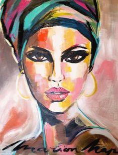 African American Art, African Art, Diy Art, Painting & Drawing, Watercolor Paintings, Diy Painting, Art Corner, Portrait Art, Face Art