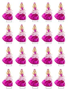 Barbie Theme Party, Barbie Birthday Party, Birthday Parties, Bolo Barbie, Barbie Cake, Barbie Images, Homemade Stickers, Disney Junior, Barbie World