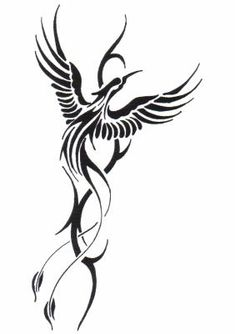 Phoenix represents rebirth. Placement: up the side of torso?