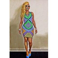 Fashion O Neck Tank Sleeveless Geometric Patterns Print Chiffon Bodycon Dress_Dresses_Womens Clothing_LovelyWholesale | Wholesale Shoes,Wholesale Clothing, Cheap Clothes,Cheap Shoes Online. - LovelyWholesale.com