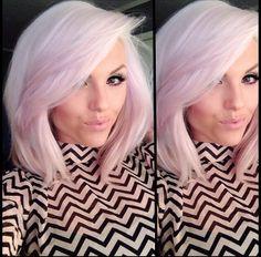 pale pink/violet hair