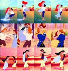 Screen Test - The leading man in every Disney film must have the ability to lift the leading actress above his head due to the fact that this stunt appears in Every Disney Princess film. Disney: forever giving girls unrealistic standards in men. Disney Magic, Disney Pixar, Walt Disney, Disney Dream, Disney And Dreamworks, Disney Love, Hipster Disney, Disney Ships, Disney Nerd