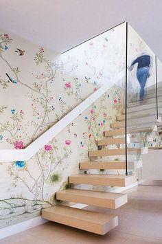 papier peint et déco de cage d'escalier