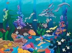this image represents all of the local fish that can be seen in the ocean near the southwest of western australia (except the nemo in the center whose color was needed to balance the design). The original painting is huge. Fish Art, Western Australia, How To Find Out, Fine Art Prints, Original Paintings, Sculptures, Artist, Cards