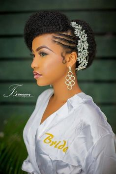 110 Wedding Hairstyles for Natural Hair Hairstyles Haircuts for African American Natural Bridal Hair, Natural Hair Updo, Natural Hair Styles, Natural Hair Brides, Natural Skin, Natural Beauty, Side Braid Hairstyles, Bride Hairstyles, Hairstyles Haircuts