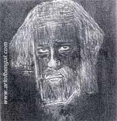 Self Portrait by Rabindranath Tagore