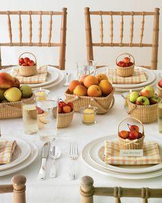 cute summer fruits tablescape...