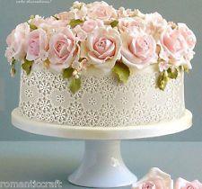 Vintage Instant Big Lace Mat Gumpaste Mold Wedding Fondant Cake Decoration Tool