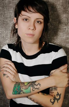 Tegan Quin. Like that I can see some of her tattoos up closer.