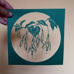 And today's quick cut! A little study of fuschias. These lovely flowers are used as hedges in Ireland and I couldn't miss them out of this series. #papercut #papercutting