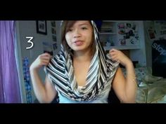 Ways to wear and make a fabric circle (infinity) scarf.
