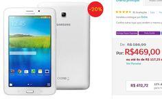 Tablet Samsung Galaxy Tab E 7.0 WiFi SM-T113NU Tela 7 8GB Câm. 2MP AGPS Bluetooth << R$ 41272 >>