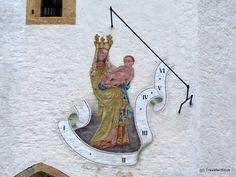 Sundial in Altenmarkt/Pongau, Austria   By Travelwriticus | August 19, 2013 | Sundials