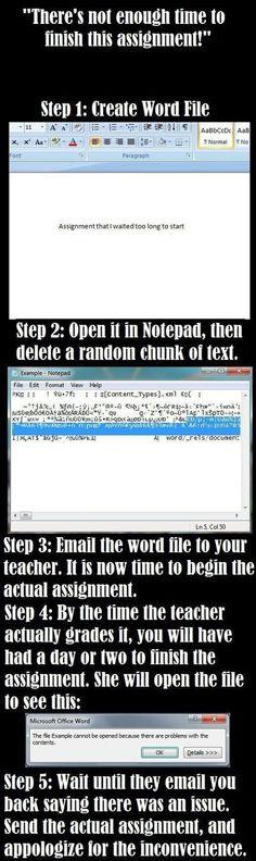 Genius. Pure genius. Because procrastinators are lazy, not dumb.