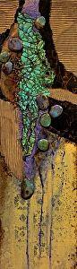 Navajo Trail, 050815 by Carol Nelson mixed media ~ 24 x 7