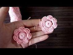 Маленький цветочек, для Ирландского кружева. - YouTube