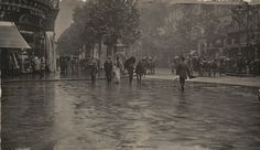 Alfred Stieglitz. A Wet Day on the Boulevard, Paris. 1894. Carbon print from an…