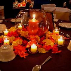 Fall centerpiece simple, easy @Terri Osborne McElwee Osborne McElwee Boggess