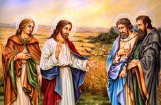 Los tres apóstoles más cercanos a Jesús Pedro,Santiago y Juan. San Juan Evangelista, Lucas 9, San Josemaria, Religious Images, Saint Jean, Patron Saints, Princess Zelda, Painting, Fictional Characters