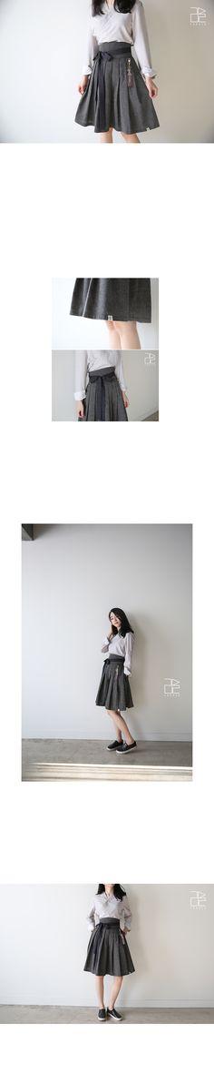Button waist skirt [black] - 리슬