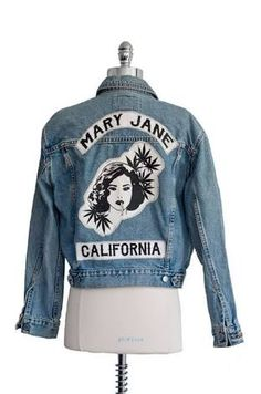 Image result for mary jane jeans jacket