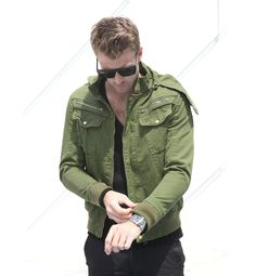 Mens Green Military Jacket