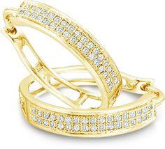 10k #Gold #Diamond  Huggie #Earrings http://amzn.com/B004LHFVMA?tag=thep0658-20 #christmas