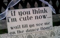Wedding Sign REVERSIBLE Ring Bearer Flower Girl by RomanticPlanet