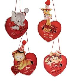 Wild About You Valentine Ornaments from TheHolidayBarn.com