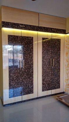 Best Wardrobe Design in India - GharPedia Wardrobe Laminate Design, Wall Wardrobe Design, Sliding Door Wardrobe Designs, Wardrobe Interior Design, Kitchen Wardrobe Design, Flat Interior, Wardrobe Doors, Bedroom Wardrobe, Wall Design