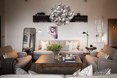 Gorgeous Penthouse in Stockholm, design, décor, interior, Stockholm, penthouse, apartment, cozy, living room
