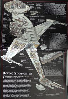 B-Wing cutaway illustration - Star Wars Mandalorian - Ideas of Star Wars Mandalorian - B-Wing cutaway illustration