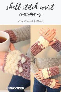 Learn how to crochet the zig zag puff stitch with this amazing pattern and step-by-step video tutorial. Loom Knitting Patterns, Knitting Stitches, Free Knitting, Stitch Patterns, Knitting Tutorials, Hat Patterns, Crochet Mittens, Fingerless Mittens, Crochet Gloves
