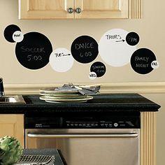 Black and White Chalkboard Wall Sticker - DKK kr. 157