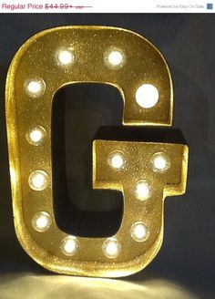 8 Lighted Marquee Sign Letters Glitter by JessiesGiftBoutique