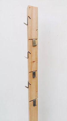 perchero de pie madera paraíso + 9 ganchos acero inox