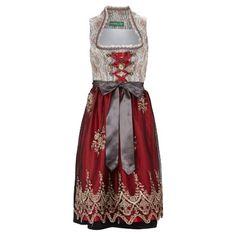 Schickes rotes #Dirndl von #Country #Line. Nur noch eine #Bluse dazu kombinieren - und fertig ist der perfekte #Wiesn #Look! ♥ ab 249,00 €
