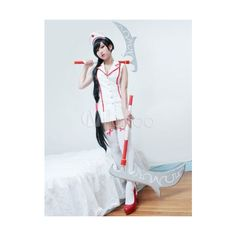 LOL Cosplay Costume League Of Legends Akali Halloween Cosplay Costume... ❤ liked on Polyvore featuring costumes, role play costumes, cosplay halloween costumes and cosplay costumes