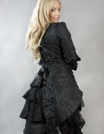 Veste gothique queue de pie BURLESKA 'black angel'