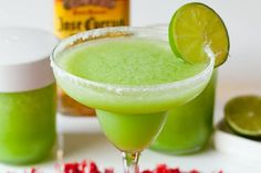 Blender Babes Signature Green Margarita! with spinich