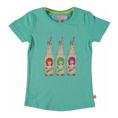 Kidz-Art shirtje Girl in a bottle- seablue