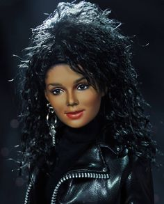 Janet Jackson {Barbie}  Spot on would have loved this as a child.