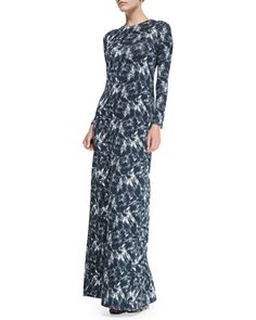 Stormy Long-Sleeve Printed Maxi Dress by Rachel Pally at Neiman Marcus.