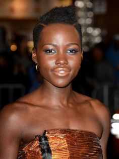 Lupita's entire look was a win at the premiere of Non-Stop, thanks to her teased updo and icy-blue eyeliner.