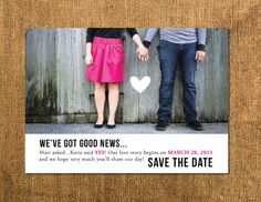 We've Got News diy Save The Date Wedding or Baby Announcement // DIGITAL FILES ONLY. $25.00, via Etsy.