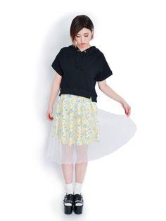 ファッション通販│RUNWAY channel WEB STORE│ランウェイチャンネルウェブストア-【LADY】レモン柄オーガンジーSK